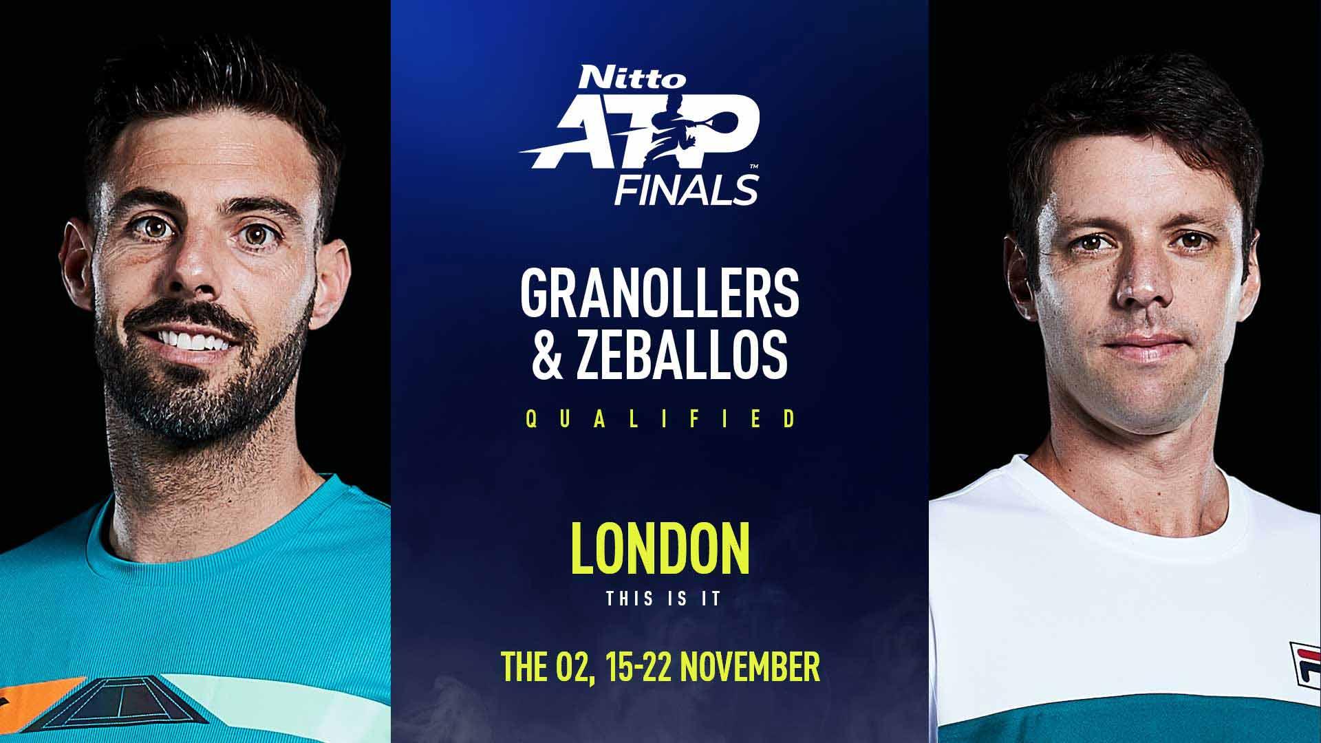 Horacio Zeballos y Marcel Granollers estarán en el ATP World Tour Finals