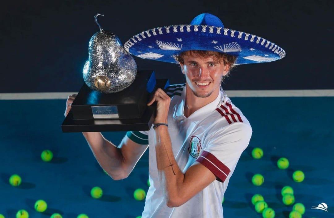 En este momento estás viendo Zverev : Primero recibió la noticia del nacimiento de su hija, jugó la final y se consagró en el ATP 500 de Acapulco