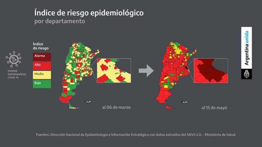 Confinamiento total: cuales son las zonas de riesgo epidemiológico